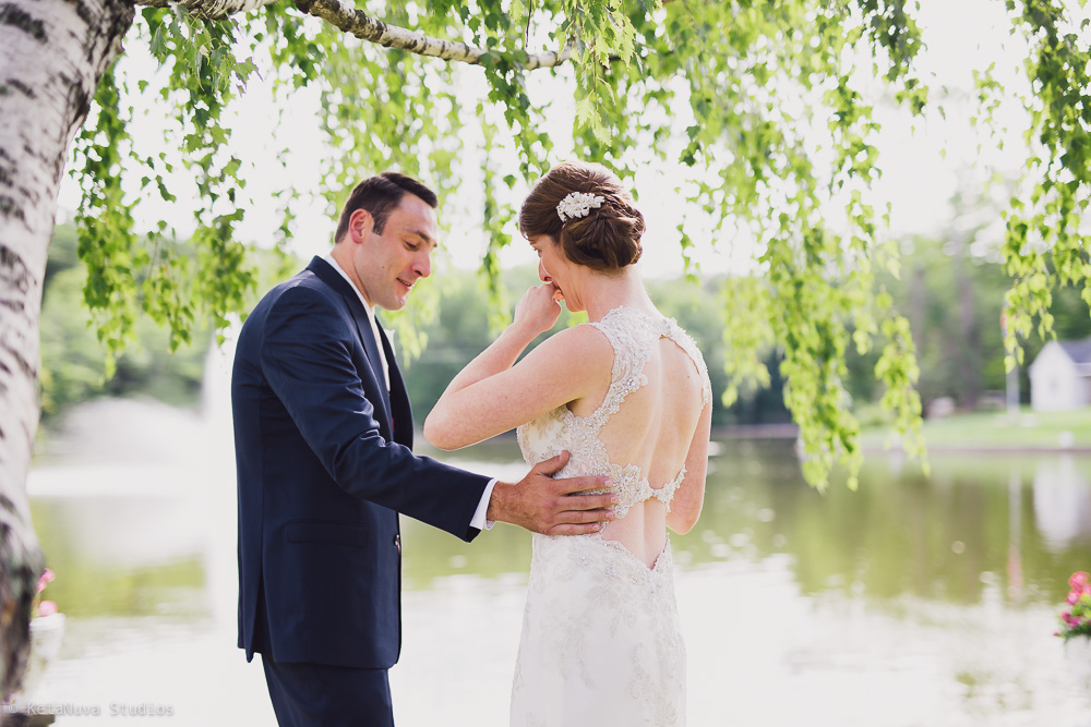 Perona Farms wedding - outdoor pictures from the First Look