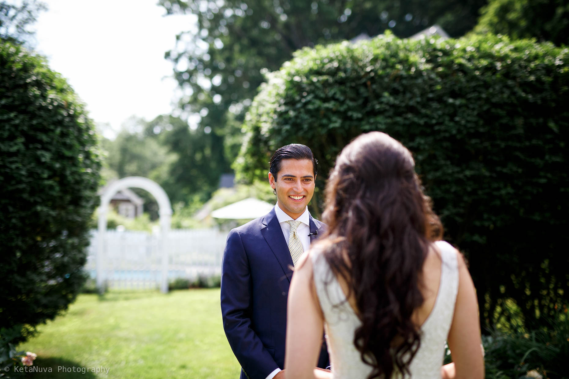"Hudson Valley rustic wedding - bride and groom's first look. "" width=""1860"" height="