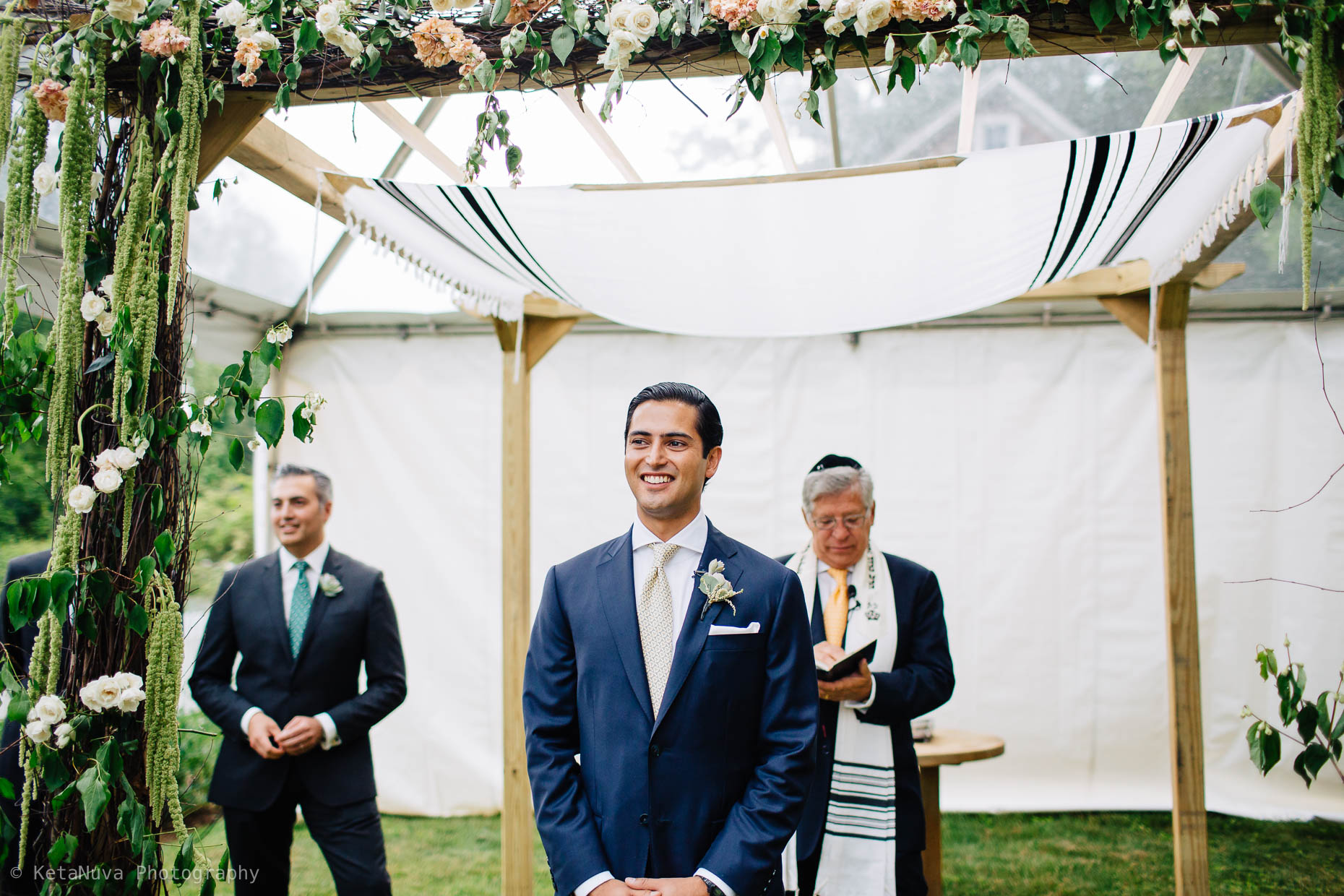 "Avi's reaction when he sees Vanessa walking down the aisle. "" width=""1860"" height="