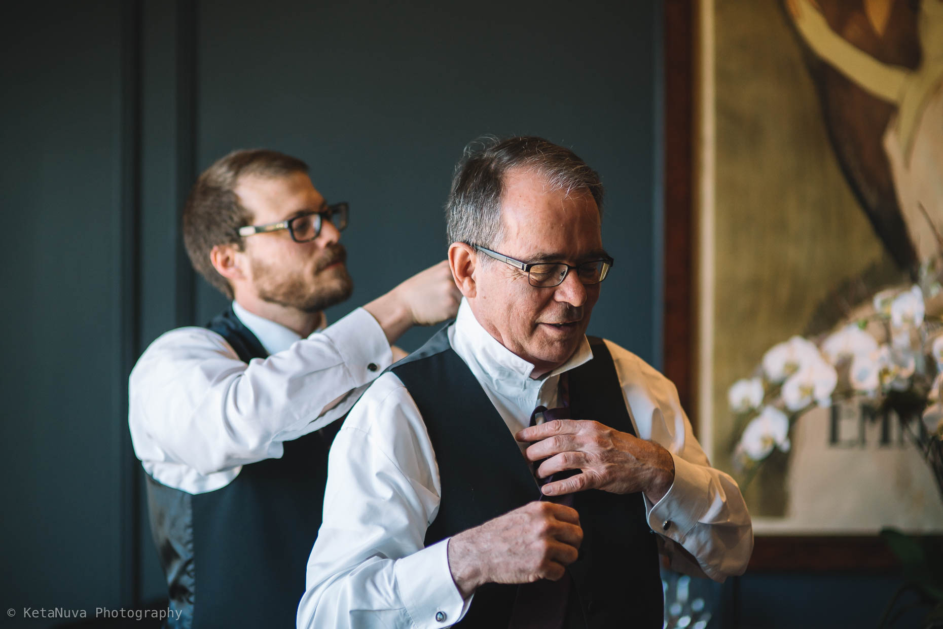 Father of the bride getting ready for his daughter's big day!