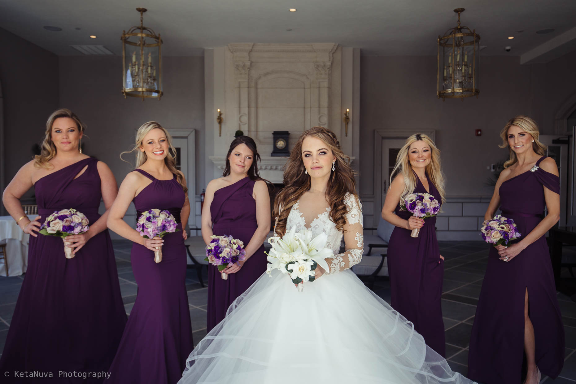 Park Chateau Estate wedding - Lovely picture of the bridesmaids.